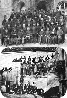 Professeurs à polytechnique en 1905, et élèves vers 1900